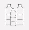 plastic bottles icon line element vector image