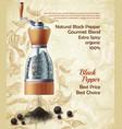 promo banner black pepper natural spice vector image vector image
