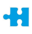 Puzzle piece icon game design graphic vector image vector image