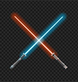 realistic 3d detailed color jedi knights cross vector image vector image