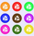 Recycle icon sign Big set of colorful diverse vector image vector image