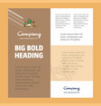 scenery business company poster template with vector image vector image