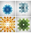 Set of colored tech patterns vector image vector image