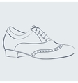 Sketched man s shoe vector image