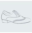 Sketched man s shoe vector image vector image