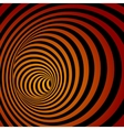 Spiral Striped Abstract Tunnel Background vector image vector image