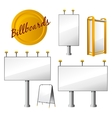 Steet Billboards Set vector image vector image