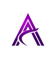 stylish purple initial a vector image vector image