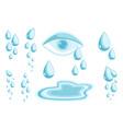 tears set cry symbol psychology problem vector image vector image