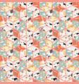 terrazzo seamless pattern design vector image vector image