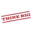 Think Big Watermark Stamp vector image