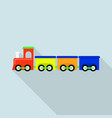 train toy icon flat style vector image vector image