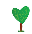 tree with heart vector image