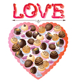 Valentines sweets vector image vector image