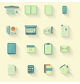 Work table icons with shadow vector image vector image
