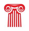 Greek column icon1 vector image