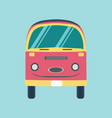retro bus holiday van vector image