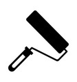 paint roller black icon vector image