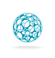 Plastic sphere with different size holes vector image