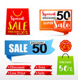 050 collection of web tag banner for promotion vector image vector image