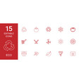 15 eco icons vector image vector image