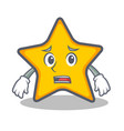 afraid star character cartoon style vector image vector image