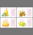 almond and amla olive and argan oils hair care vector image vector image