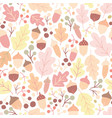 autumn seamless pattern with fallen oak leaves vector image vector image