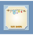 baby boy shower card vector image vector image