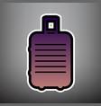 Baggage sign violet gradient