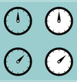 black clock watcher timer icon vector image vector image