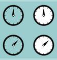 black clock watcher timer icon vector image vector image