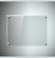 blank transparent glass plate texture plastic vector image