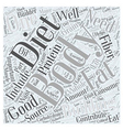 Body Building Diet Word Cloud Concept vector image vector image