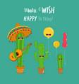 cactus symbols vector image vector image