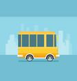 caravan trailer in flat style vector image