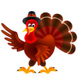 cartoon turkey thanksgiving day isolated vector image vector image