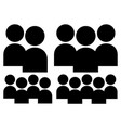 characters figuers symbol group with different vector image