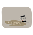 Chasing Happiness vector image vector image