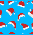 christmas hat seamless pattern isolated vector image vector image