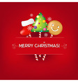 Christmas Poster With Candies vector image