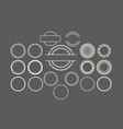circular stamps set vector image