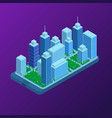city map on mobile phone application concept 3d vector image vector image
