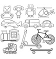 Classic toys vector image