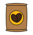 coffee sack isolated icon vector image vector image