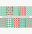 collection bright seamless colorful geometric vector image vector image