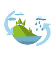 concept with icon of environment vector image vector image