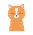 Cute cat portrait cartoon feline animal icon
