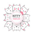 cute cool pretty funny crazy beautiful cat vector image vector image
