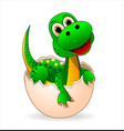 cute dinosaur-baby vector image vector image